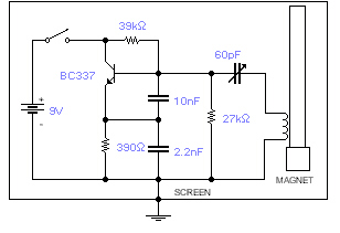 How to build Geomagic field detector     circuit       diagram