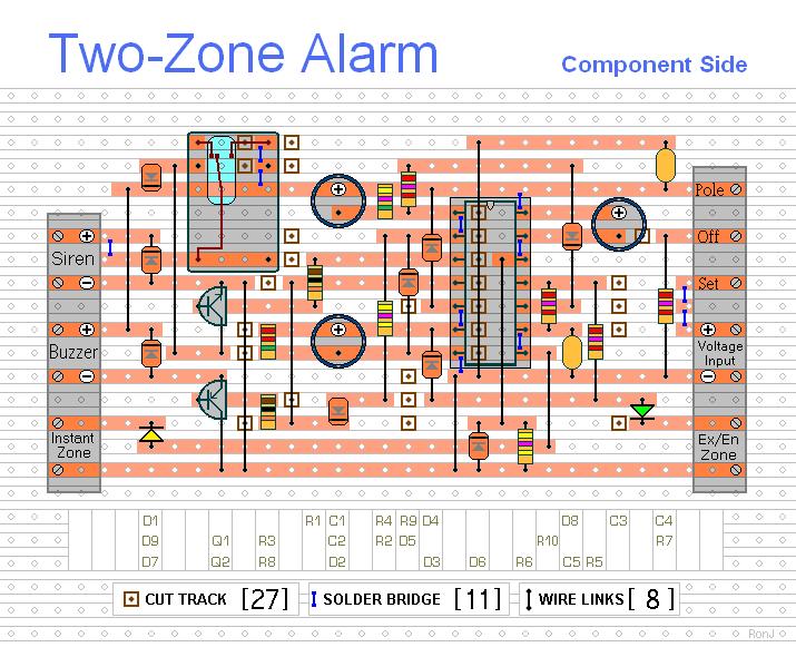 How To Build Two-zone Burglar Alarm
