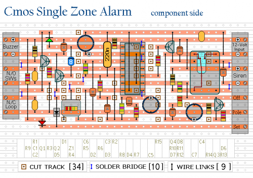How To Build A Cmos Based Single Zone Alarm
