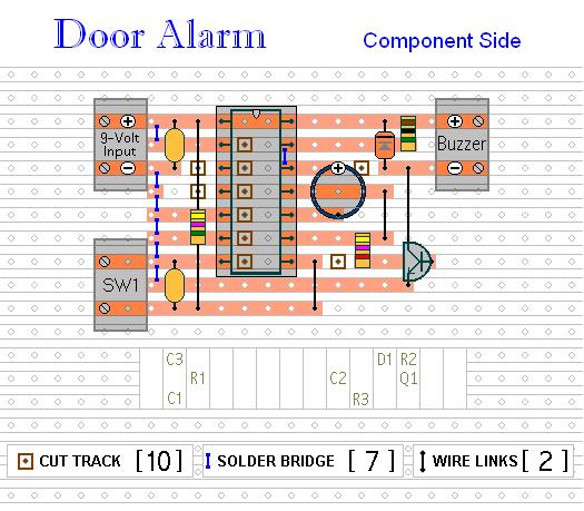 How to build A Simple Shop-Door Alarm - circuit diagram