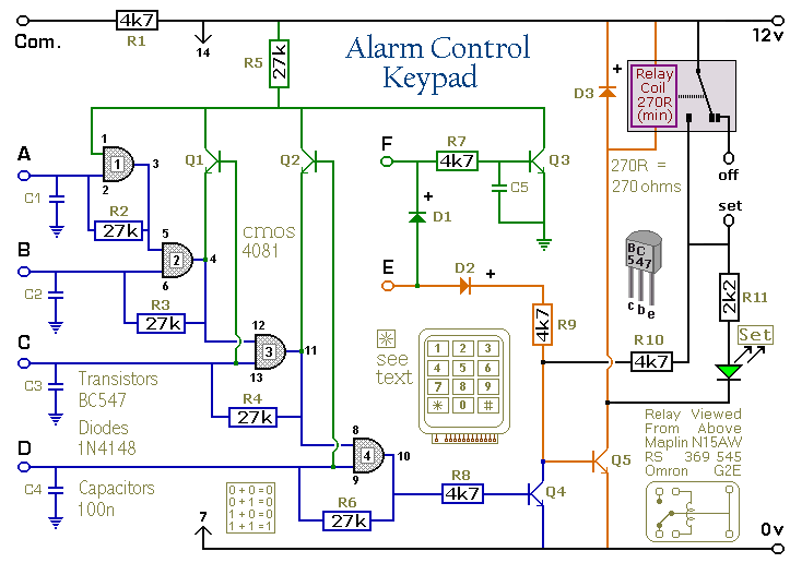 a 4 digit alarm control keypad_orig how to build a 4 digit alarm control keypad circuit diagram control 4 wiring diagrams at gsmx.co