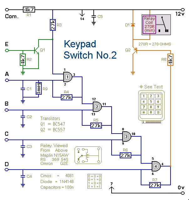 How To Build Keypad Controlled Switch No  2