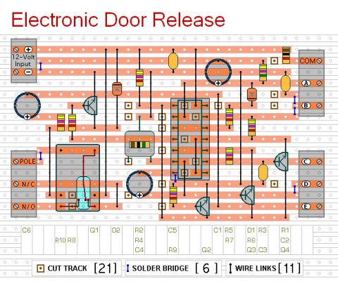 how to build electronic door release circuit diagram. Black Bedroom Furniture Sets. Home Design Ideas