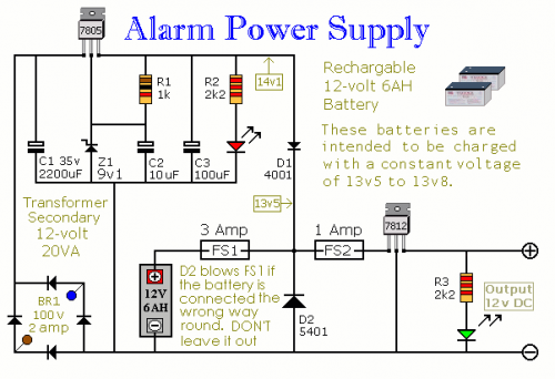 How To Build An Alarm Power Supply With Battery Back Up