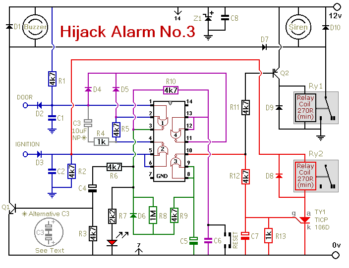 vehicle anti hijack alarm no3 2_orig how to build vehicle anti hijack alarm no3 circuit diagram vehicle alarm wiring diagram at alyssarenee.co