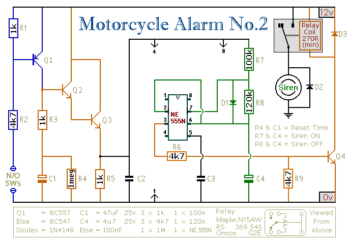 a 555 timer based motorcycle alarm2_orig mobil alarm wiring diagram 4 wire proximity diagram wiring diagram wiring diagram alarm mobil at aneh.co