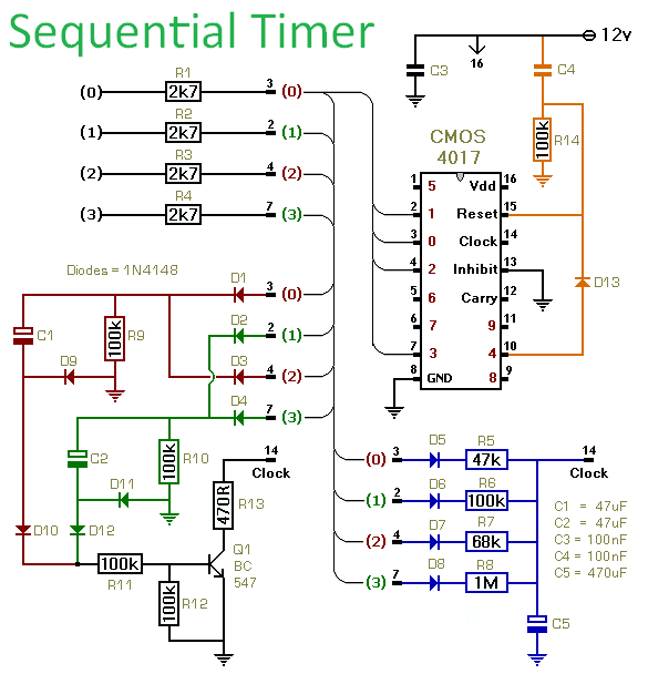 4 pin switch wiring diagram with Cmos 4017 Sequential Timer on Gy6 150cc Ignition Troubleshooting Guide No Spark in addition Midi volume further Cmos 4017 Sequential Timer furthermore 12v L  On Arduino With A Reed Relay besides Index en.