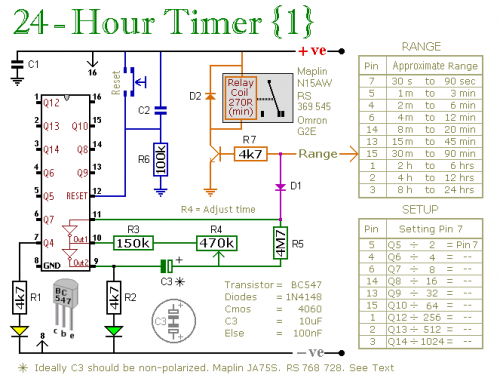 how to build two cmos based 24-hour timers