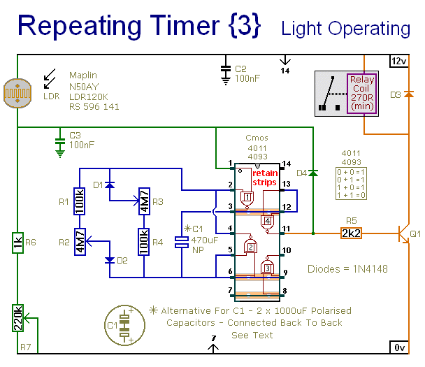 how to build repeating timer no3 circuit diagram