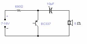 Reverse Bias Oscillator-Circuit diagram