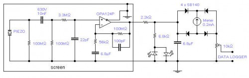 Seismic detector-Circuit diagram