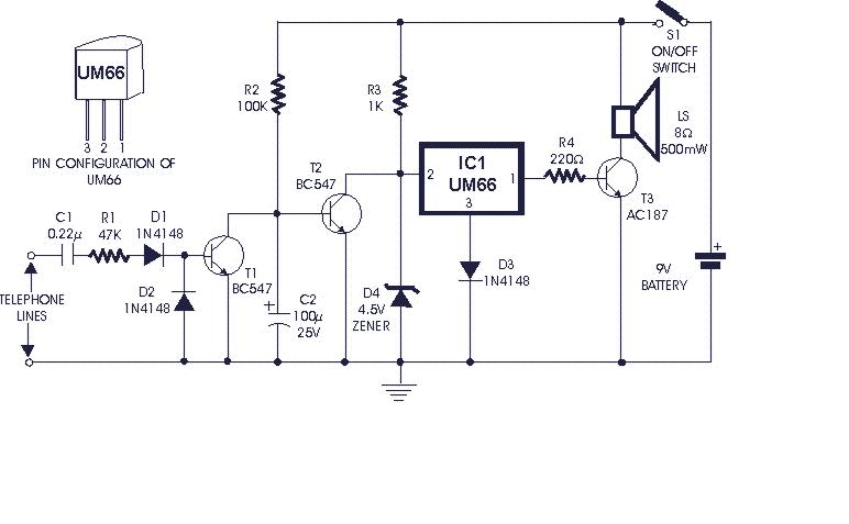 soft musical telephone ringer_orig how to build soft musical telephone ringer circuit diagram Residential Telephone Wiring Diagram at bayanpartner.co