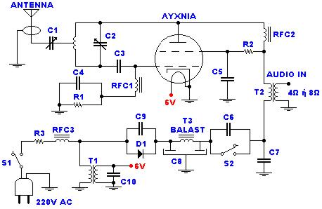 Transmitter FM 45W with valve-Circuit diagram