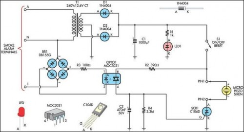 How To Build Remote Alarm For Smoke Detector Circuit Diagram