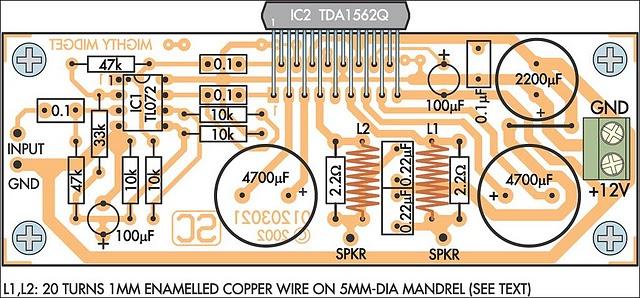 How to build 36 Watt Audio Power Amplifier Using TDA1562Q ...