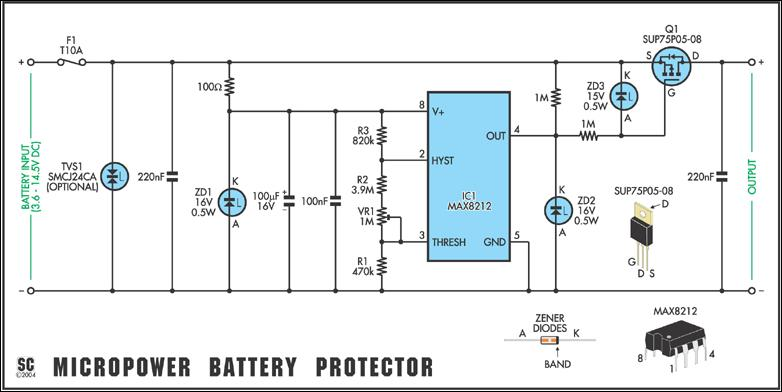 9 Volt Photocell Wiring Diagram also Watch as well Versatile Micropower Battery Protector also 350w Home audio  lifier 7214 likewise Coin Cell Battery Circuit Schematic. on lithium battery charger circuit diagram