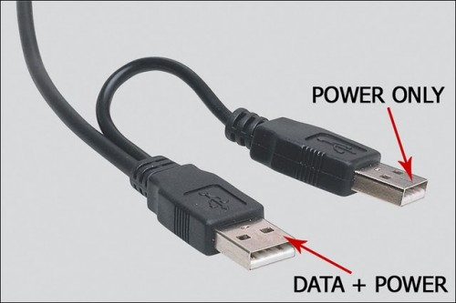 USB Power Injector For External Hard Drives-USB Cable