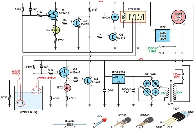 How To Build Automatic Water Tank Filler Circuit Diagram