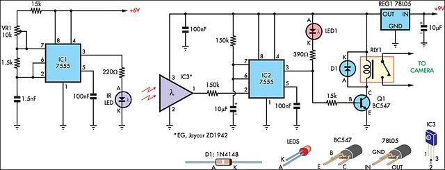 How To Build Beam Break Detector For Camera Shutter Or