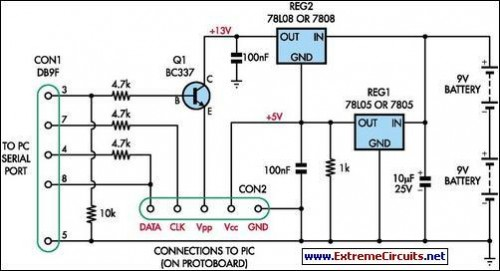 How To Build Simple Universal Pic Programmer Circuit Diagram