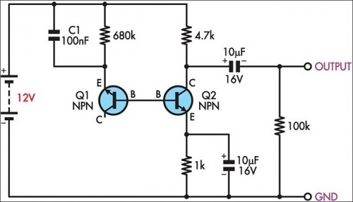 How To Build Simple White Noise Generator Circuit Diagram